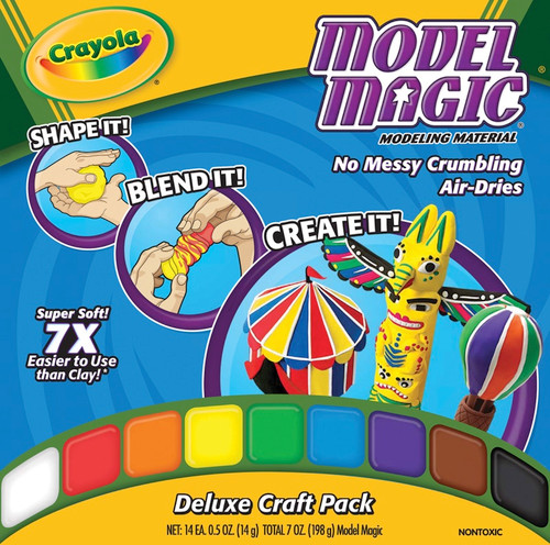 CRAYOLA - Model Magic .5oz 14/Pkg-Assorted Colors (23-2403) 071662024031