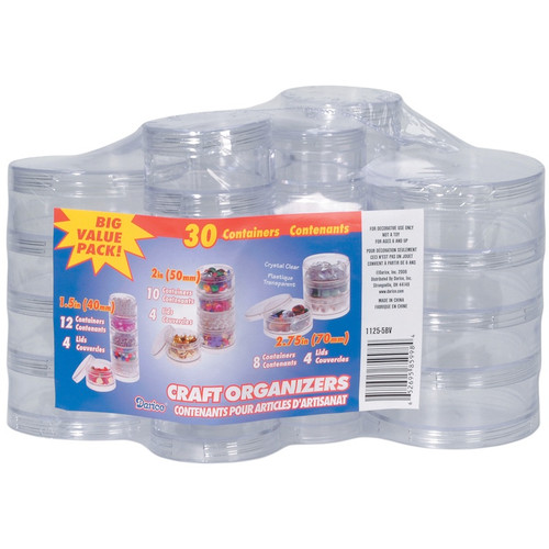 DARICE - Craft Organizers Stackable Circles Set-Clear (1125-5BV) 652695859984