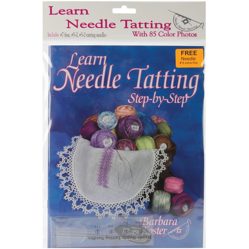 HANDY HANDS - Learn Needle Tatting Step-By-Step Kit-W/#7, #5-0, #3-0 needles & threader (st11p) 769826432890