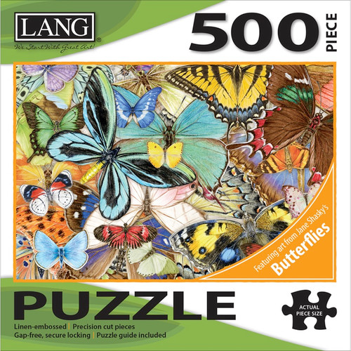 "LANG - Jigsaw Puzzle 500 Pieces 24""X18""-Butterfly Dreams (50391-30) 739744183365"