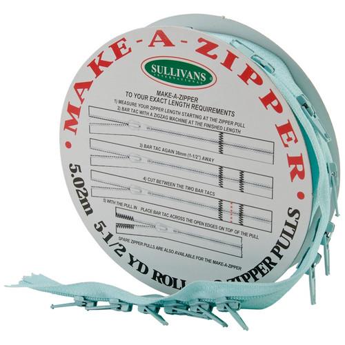 SULLIVANS - Make-A-Zipper Kit 5-1/2yd-Aqua Blue (960-86) 739301960866