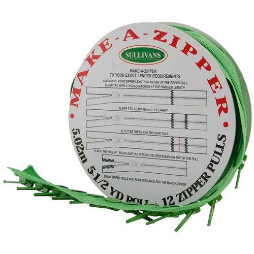 SULLIVANS - Make-A-Zipper Kit 5-1/2yd-Medium Green (960-95) 739301960958