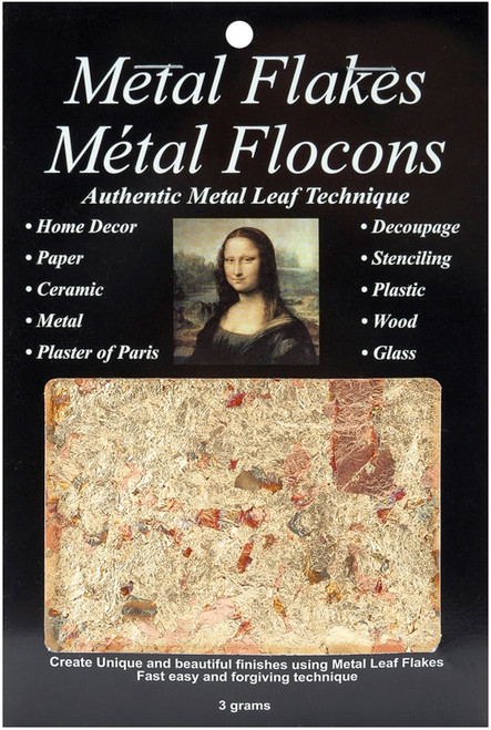 SPEEDBALL ART - Mona Lisa Metal Leaf Flakes 3g-Variegated Gold (10012) 081093100129