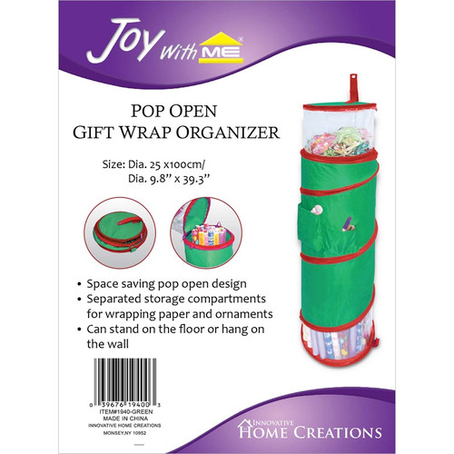 "INNOVATIVE HOME CREATIONS - Pop Open Gift Wrap Organizer-39.3""X9.8"" (IHC1940) 039676194003"