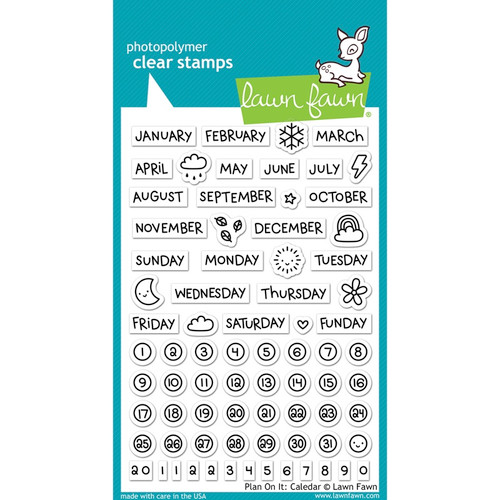 "LAWN FAWN - Clear Stamps 4""X6""-Plan On It: Calendar (LF1177) 035127963617"