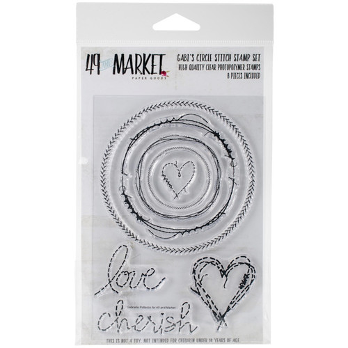 "49 AND MARKET - 49 & Market Clear Stamps 4""X6""-Gabi's Circle Stitch (GP4581) 014567984581"