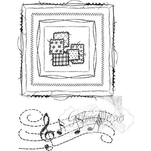 "49 AND MARKET - 49 & Market Clear Stamps 4""X6""-Gabi's Square Stitch (GP4598) 014567984598"