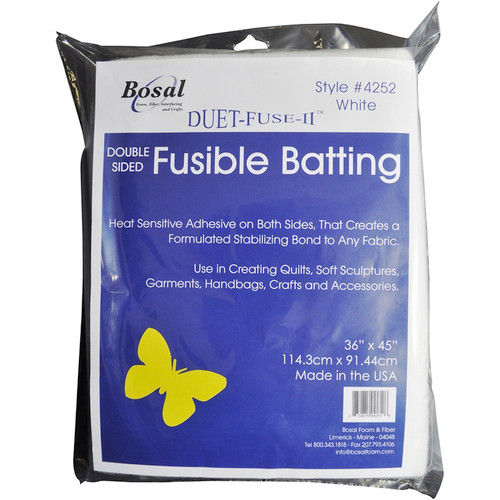 "BOSAL - Duet-Fuse-II Double-Sided Fusible Batting-36""X45"" (4252) 834875042526"