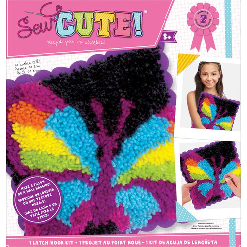 COLORBOK - Sew Cute! Latch Hook Kit-Butterfly (73879) 765468738796