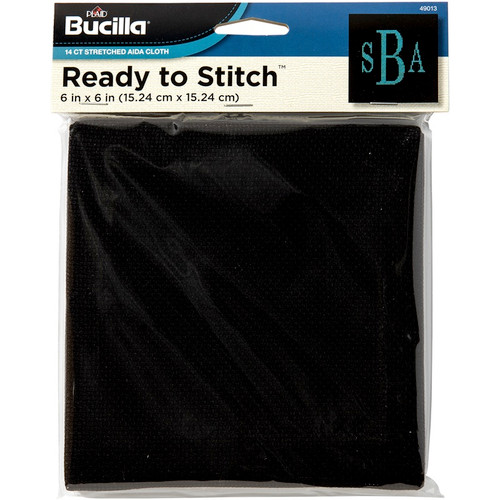 """BUCILLA - Aida Pre-Stretched On Wood Frame 14 Count 6""""x6""""-6""""x6"""" 14 count (49013) 046109490137"""