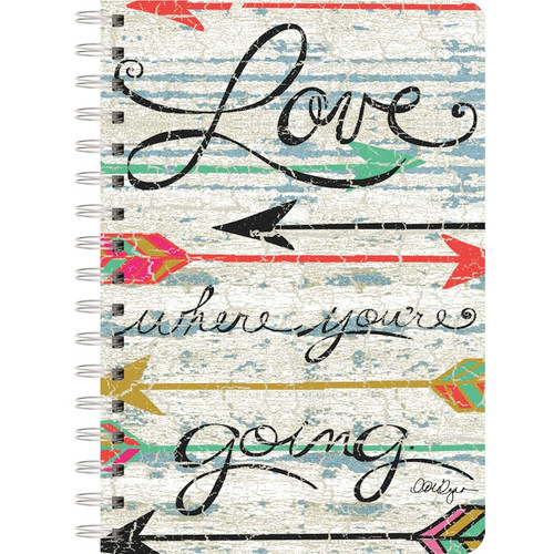 "LANG - Spiral-Bound Journal Notebook 6""X8.25"" 240 Pages-Love Where You Go (13500-12) 739744160885"