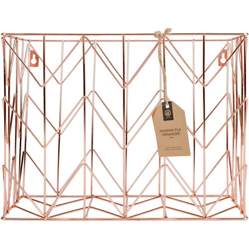 U BRANDS - Wire Hanging File Basket 1/Pkg-Copper (854U0106) 812296028541