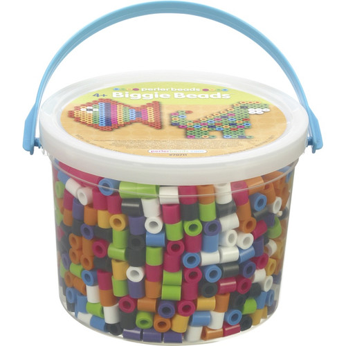 PERLER - BIGGIE Beads 1,200/Pkg-Assorted Colors (70711) 048533707119
