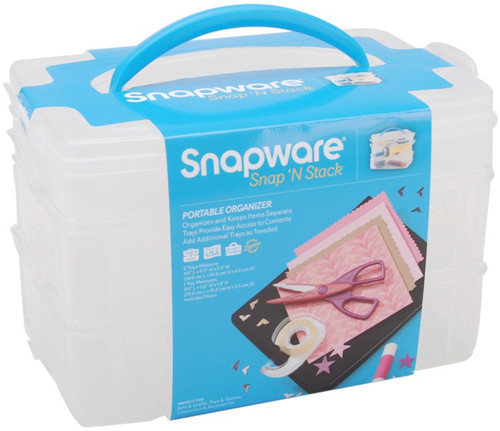"SNAPWARE - Snap 'n Stack Craft Organizer Medium Rectangle 3 Layers-6.125""X10""X6.5"" (SNS6018) 884408011567"
