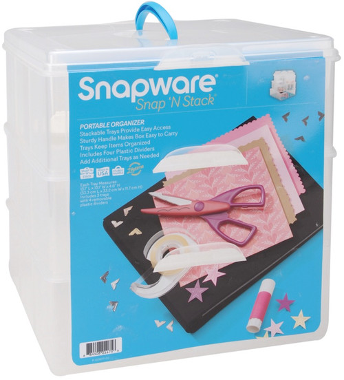 "SNAPWARE - Snap 'n Stack Craft Organizer Large Square 3 Layers-14""X12.5""X13"" (SNS6039) 884408011758"