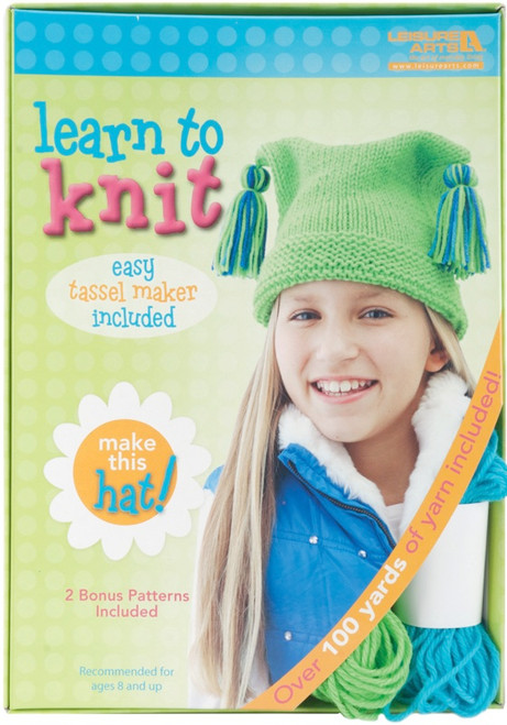LEISURE ARTS - Learn To Knit Kit-Hat (46771) 028906467710