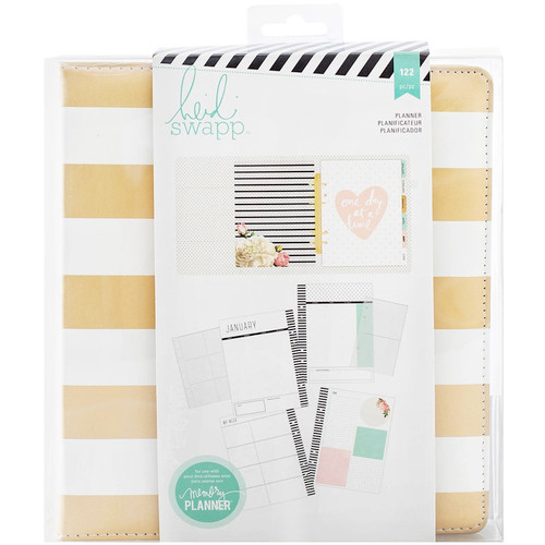 AMERICAN CRAFTS - Heidi Swapp Large Memory Planner-Gold Foil Stripes (HS312012) 718813120128