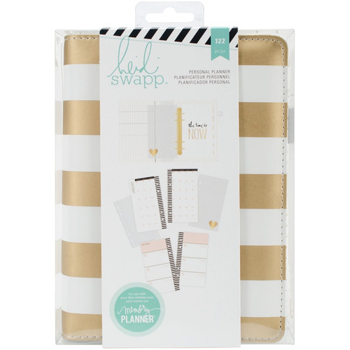 AMERICAN CRAFTS - Heidi Swapp Personal Memory Planner-Gold Foil Stripe (HS312596) 718813125963