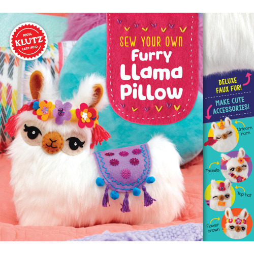 KLUTZ - Sew Your Own Furry Llama Pillow Book Kit (K827105) 730767271053