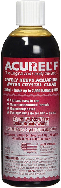 LOVING PETS PRODUCTS - Acurel F Water Clarifier 250ml-Treats 2,650 Gallons (F250) 842982000070