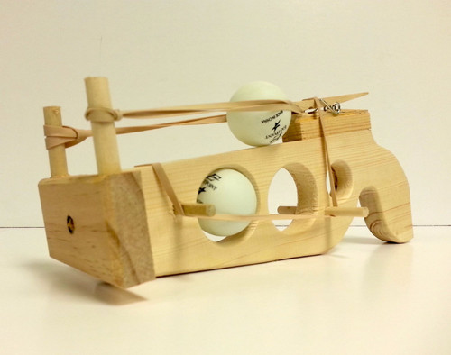 OAKRIDGE - Grandpa T's Handmade Wooden Ping Pong Ball Shooter Gun (OAK-GPT1001) 722512507487