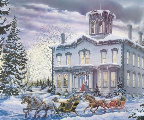 COBBLE HILL - Christmas at Kilbride - Christmas House 275 Piece Puzzle (Large Piece Format) OM54333 625012543330