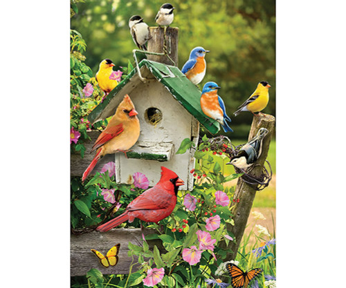 OUTSET MEDIA GAMES - Singing Around the Birdhouse - 35 Piece Tray Jigsaw Puzzle (OM58876) 625012588768