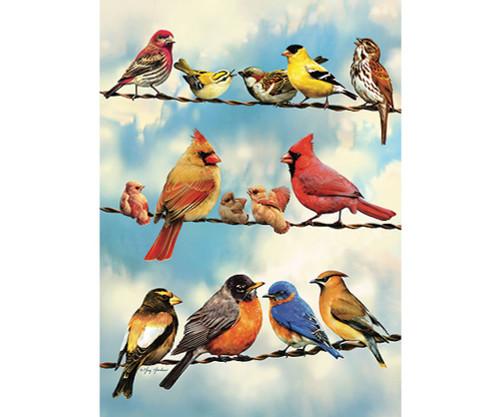 OUTSET MEDIA GAMES - Blue Sky Birds - 35 Piece Tray Jigsaw Puzzle (OM58888) 625012588881