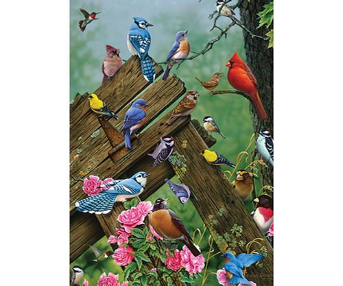 OUTSET MEDIA GAMES - Wildbird Gathering - 35 Piece Tray Jigsaw Puzzle (OM58889) 625012588898