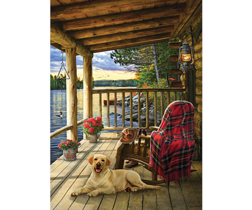 OUTSET MEDIA GAMES - Cabin Porch - 1000 Piece Jigsaw Puzzle (OM80005) 625012800051