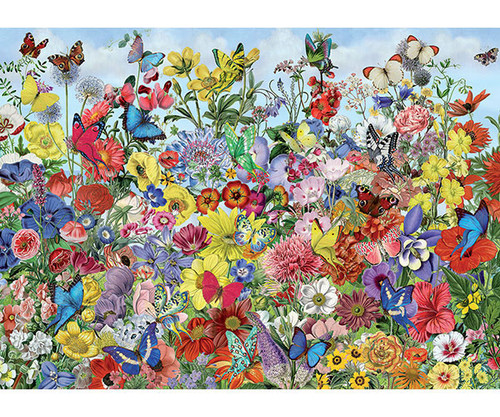 OUTSET MEDIA GAMES - Butterfly Garden - 1000 Piece Jigsaw Puzzle (OM80032) 625012800327