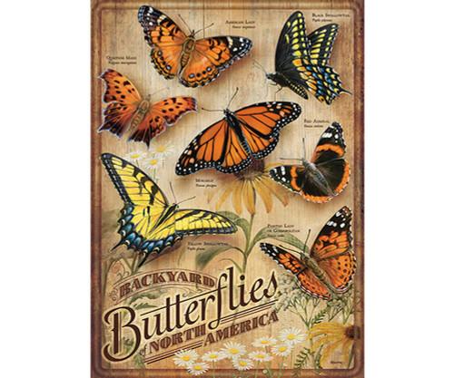 OUTSET MEDIA GAMES - Backyard Butterflies - 500 Piece Jigsaw Puzzle (OM85006) 625012850063