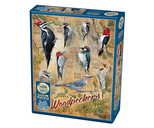 OUTSET MEDIA GAMES - Notable Woodpeckers - 500 Piece Jigsaw Puzzle (OM85007) 625012850070