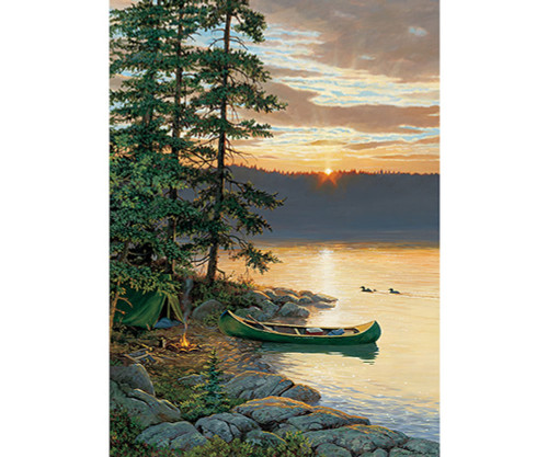 OUTSET MEDIA GAMES - Canoe Lake - 500 Piece Jigsaw Puzzle (OM85018) 625012850186