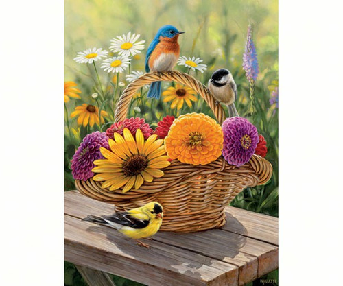 OUTSET MEDIA GAMES - Summer Bouquet - 275 Large Piece Tray Jigsaw Puzzle (OM88012) 625012543392