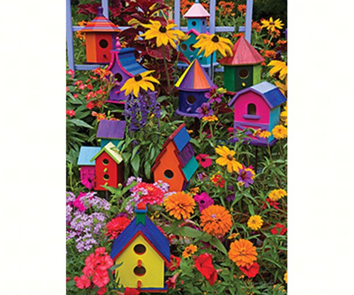 OUTSET MEDIA GAMES - Birdhouses - 275 Large Piece Tray Jigsaw Puzzle (OM88014) 625012543453