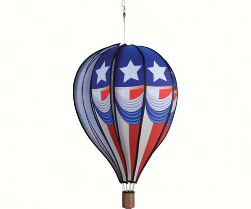 PREMIER DESIGNS - Patriotic 4th Vintage 22 inch Hot Air Balloon Wind Spinner PD25744 630104257446