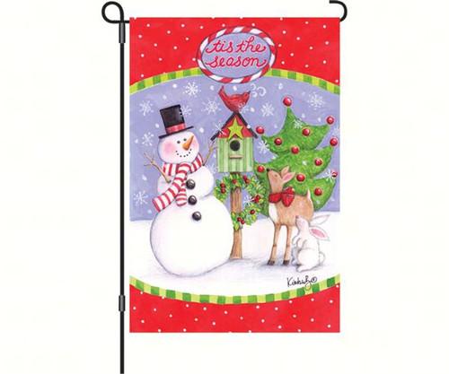 PREMIER DESIGNS - Festive Friends Christmas Garden Flag (12x18) (PD56045) 630104560454
