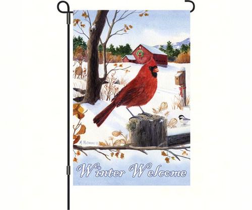 PREMIER DESIGNS - Cardinal Morning Welcome Christmas Garden Flag PD56086 630104560867