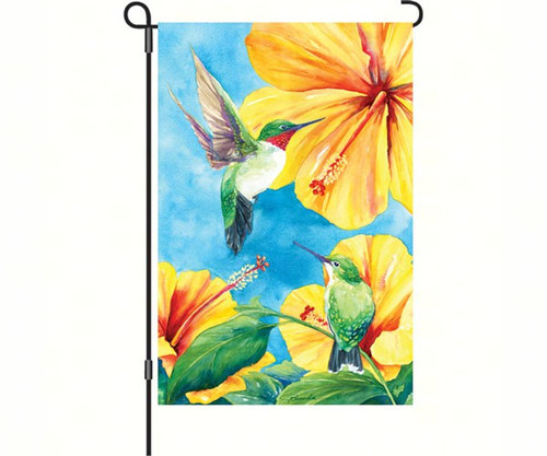 PREMIER DESIGNS - Hummingbirds & Hibiscus Garden Flag PD56113 630104561130