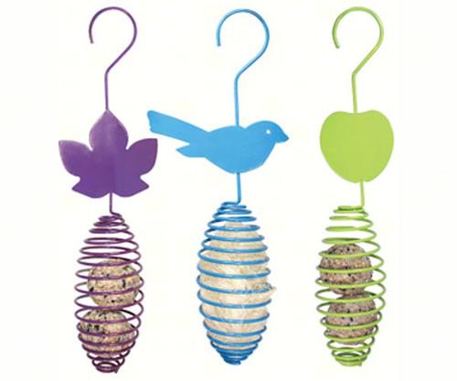 PINEBUSH - Oval Spring Feeder (Suet, Fruit, Nesting Material) - Set of 3 (PINE10151) 678214101518