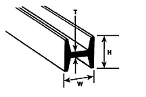 """PLASTRUCT - HFS-10 Styrene H Column 5/16"""" (5) 90547 764050905479"""