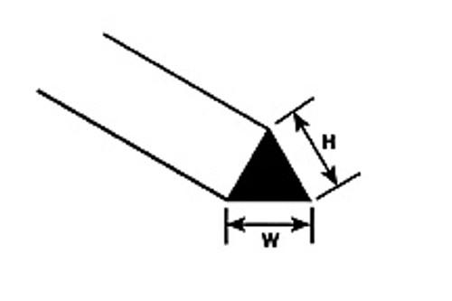 PLASTRUCT - MRT-40 Styrene Triangular Rod .040 (10) 90842 764050908425