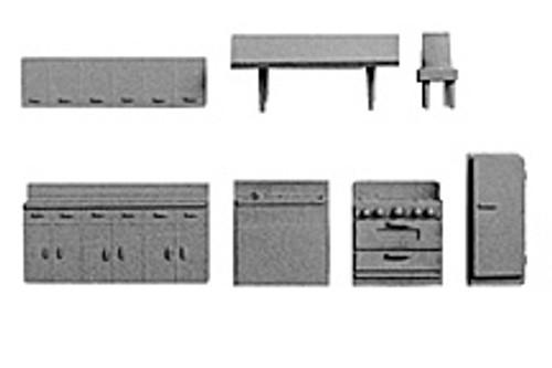 PLASTRUCT - (Architect's Half Inch Scale Furniture) - Economy PLASTIC SCALE KITCHEN SETS (93807) 764050938071
