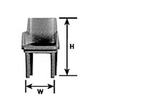 PLASTRUCT - (Architect's Half Inch Scale Furniture) - Miniature Arm Chair Kit (93877) 764050938774