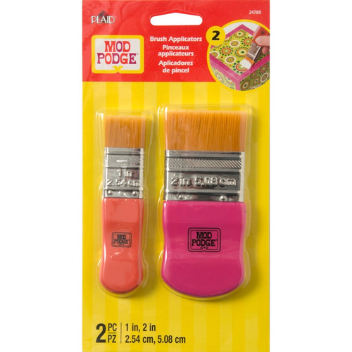 "PLAID CRAFTS - Mod Podge Brush Set 1"" & 2"" 2/Pkg - (MP24780) - 028995247804"