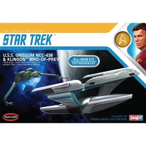 POLAR LIGHTS - 1/1000 Scale Star Trek USS Grissom/Klingon BoP Plastic Model Space SyFy Kit (2pk) Snap Kit (957) 849398020425