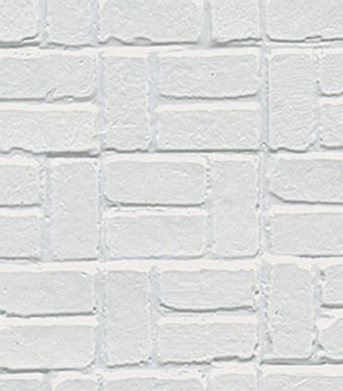 PRECISION PRODUCTS - 1 Inch Scale Dollhouse Miniature Plastic Styrene Pattern Sheet Stock - Tee Brick Patio (PRE1133)