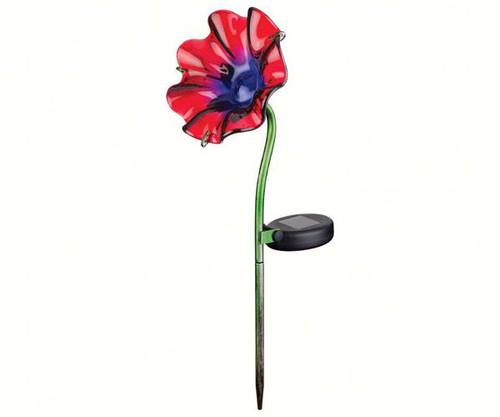 REGAL ART & GIFT - Mini Solar Poppy Garden Stake Red REGAL11233 657641112335