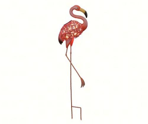 REGAL ART & GIFT - Solar Bird Garden Stake Flamingo REGAL11536 657641115367